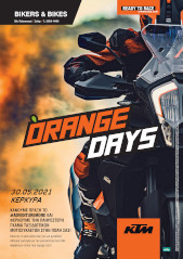 bikers and bikes orange days