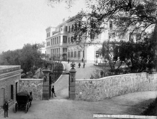 Η είσοδος του Αχιλλείου εν έτει 1890