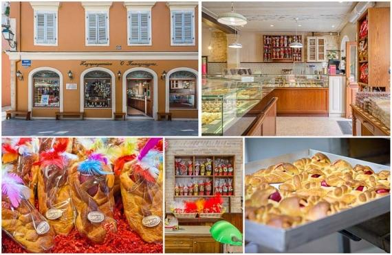 Πασχαλινές Φογάτσες και Κολομπίνες από ζαχαροπλαστεία και αρτοποιεία της Κέρκυρας