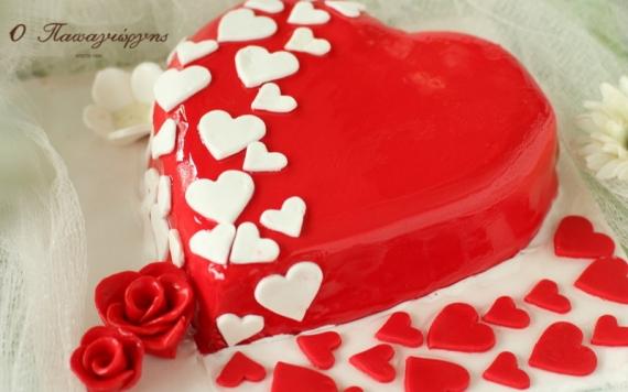 Κερδίστε μια τούρτα καρδιά για του Αγίου Βαλεντίνου από το ζαχαροπλαστείο Ο Παπαγιώργης