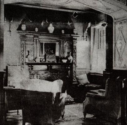 Το εσωτερικό του αρχοντικού Βίλα Ρόσσα το 1960