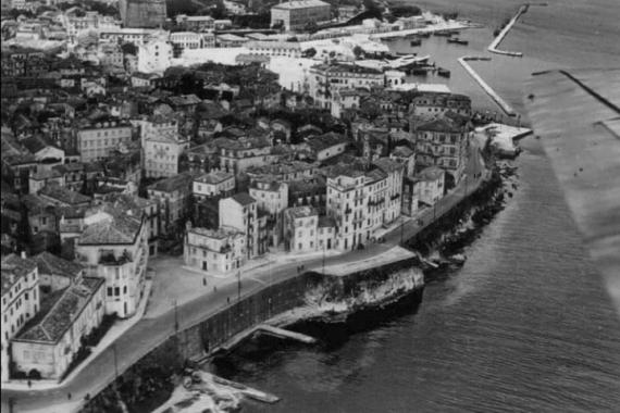 Τμήμα της Κέρκυρας σε μία αεροφωτογραφία του 1941