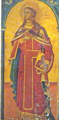 Αγία Θεοδώρα η Αυγούστα και το άφθαρτο λείψανό της στην Κέρκυρα