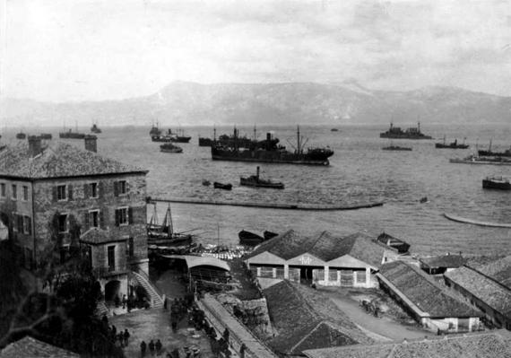 Άποψη Παλαιού Λιμανιού το 1916