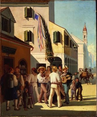 Η «Πρωτομαγιά στην Κέρκυρα»: ο πίνακας του Παχή, ένας θησαυρός για το νησί μας