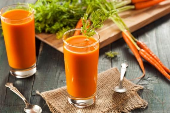 Αντιοξειδωτικός Χυμός πορτοκάλι, καρότο, τζίντζερ