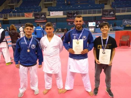 Πρωτιές οι αθλητές του Συλλόγου Καράτε Αγ.Ματθαίου στο Πανελλήνιο