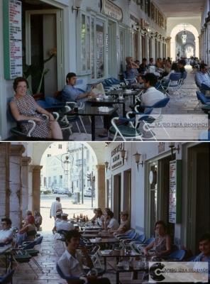 Οι καφετέριες στην αρχή του Λιστόν το 1971