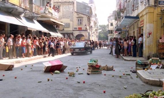 Γύρισμα στην παλιά πόλη το 1979 από Γαλλική αστυνομική ταινία