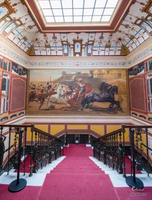 Ο αριστουργηματικός πίνακας του Αχιλλέα στο παλάτι Αχίλλειον