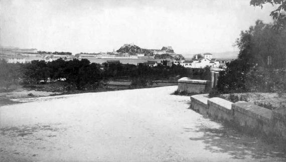 Άποψη Παλαιού Φρουρίου σε μία φωτογραφική προσέγγιση του 1865
