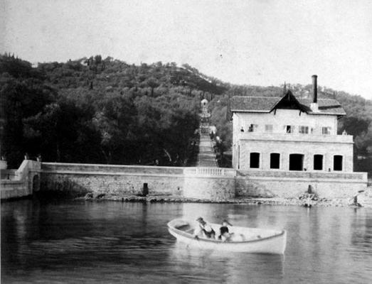 Τμήμα της γέφυρας Κάιζερ σε μία φωτογραφία του 1900