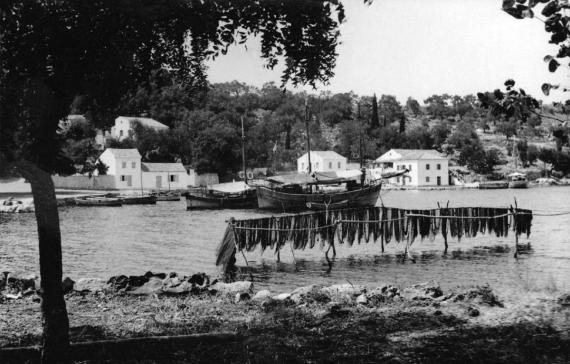 Άποψη λιμανιού Κασσιόπης το 1950