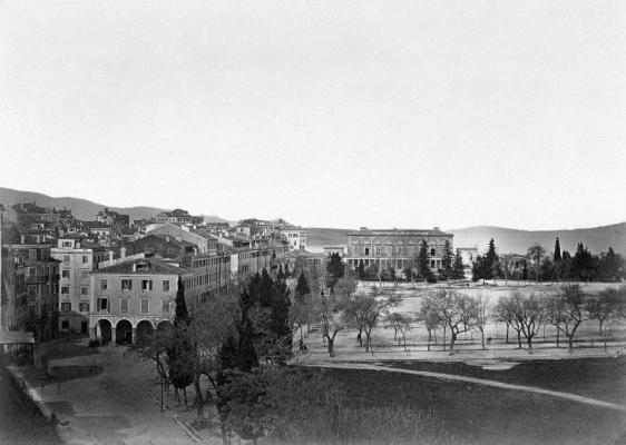 Άποψη Σπιανάδας εν έτει 1880