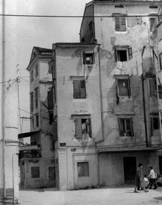 Άποψη οδού Αγίας Σοφίας το 1960