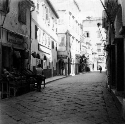 Άποψη της οδού Νικηφόρου Θεοτόκη εν έτει 1960