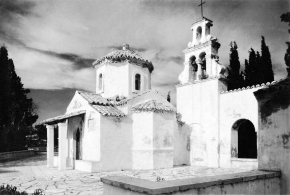 Ο Ναός του Παντοκράτορα στο Ποντικονήσι στα μέσα του 20ου αιώνα